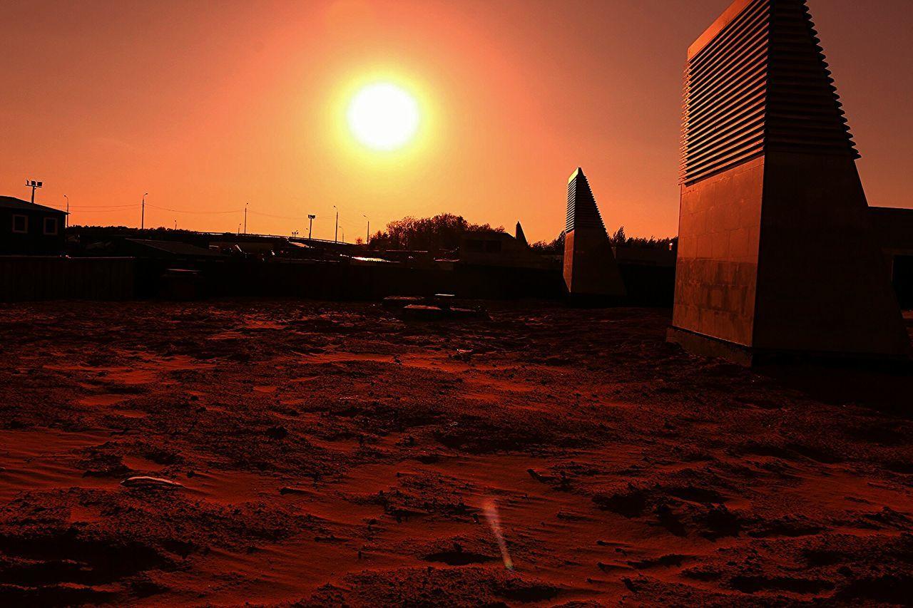 Alien Clear Sky Extraterrestrial  Famous Place Light Planet Science Fiction Scifi Silhouette Sky Sunset Terraformation