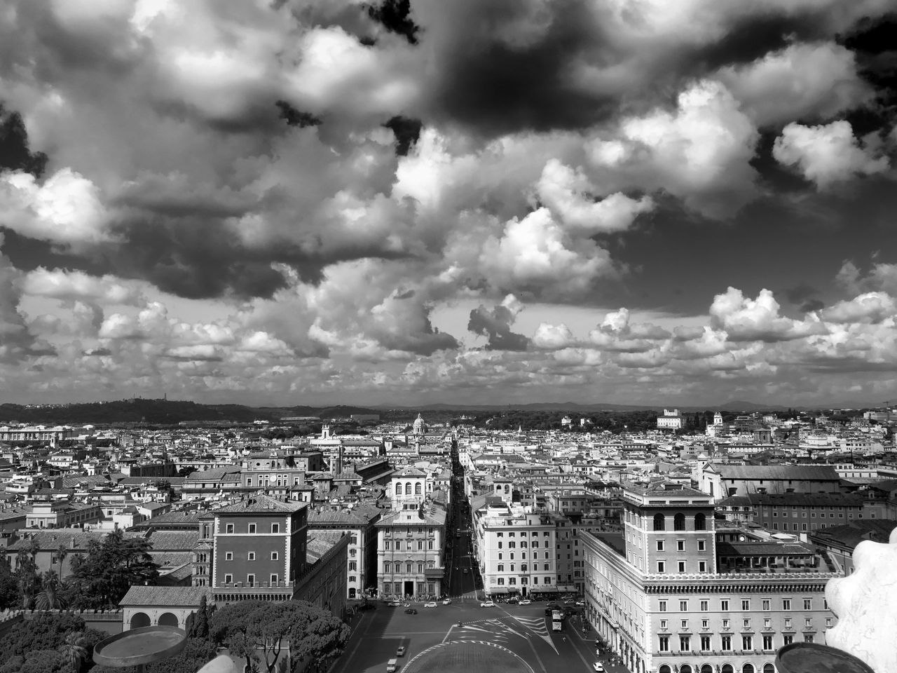 When in Rome 006 Architecture City Rome Italy High Angle View Cloud - Sky Street Black And White Black & White Photography Blackandwhite Shootermag VSCO