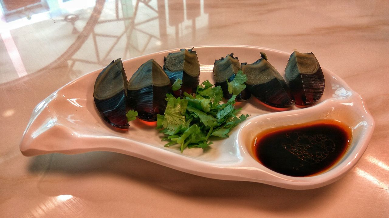 Century Egg Chinese Food Egg Food Food Porn Foodie Cuisine Soysauce Hungry White Cooked Preserved Egg Parsley World Cuisine Delicacy Serving Serving Dish Dish Dishes Taste Taste Good On A Plate Plated Food