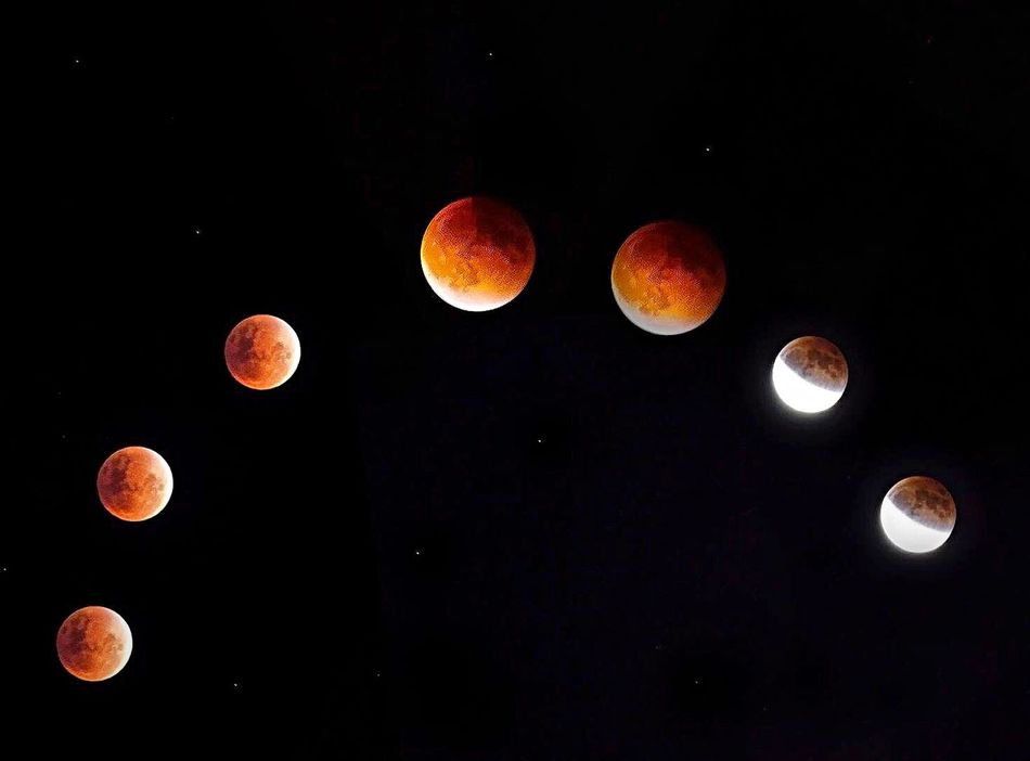 Blood moon eclipse 27.Sep.2015 Moon Eclipse Bloodmoon September 2015 Night Night Photography Circle Shot Moon Light Beautiful Moon