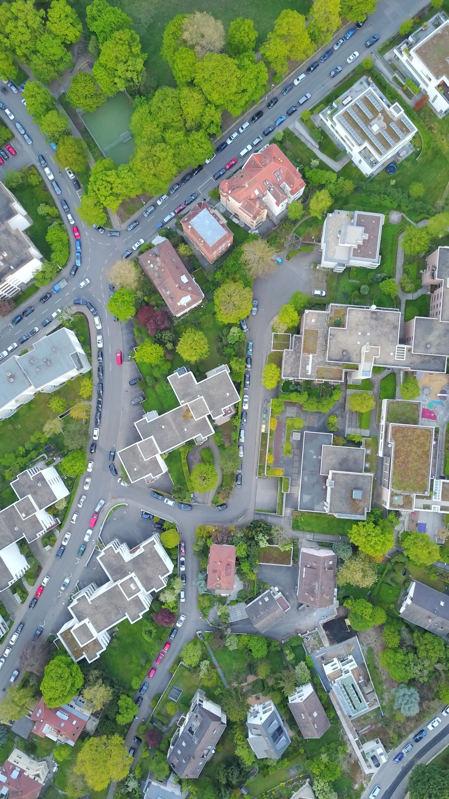 aerial view, backgrounds, green color, city, abstract, architecture, no people, outdoors, day