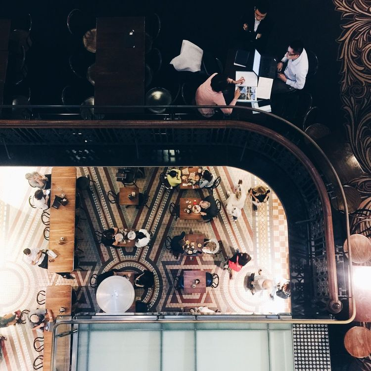 Queen Victoria Building Sydney, Australia Indoors  High Angle View Day Eating Meals Flying High