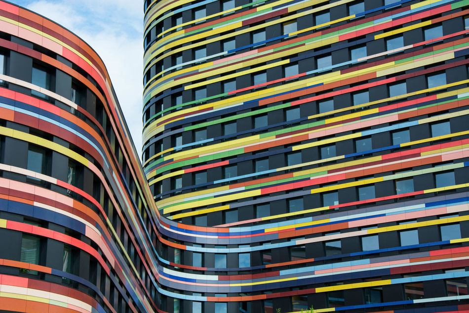anti tristesse!... Abstract Architecture Architektur Building Cityscape Colorful Colors Colorsplash Colours Design EyeEm Best Shots Geometric Abstraction Hamburg IBA IBA Hamburg Modern Modern Architecture Multi Colored Public Building Sky Sky And Clouds Tower Urban Urban Geometry Urbanphotography