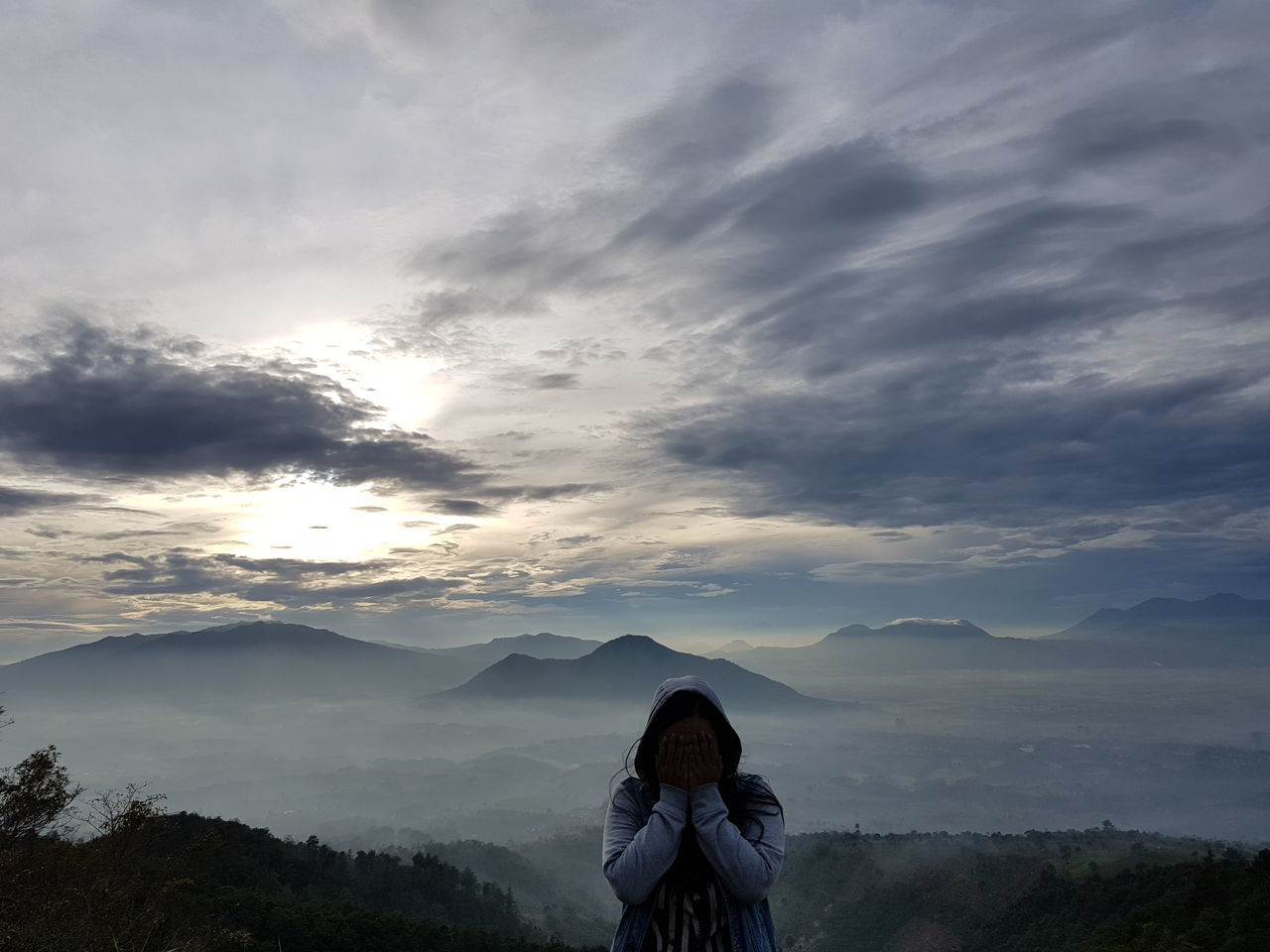 Adult Adults Only Beauty In Nature Cloud - Sky Day Hiking Landscape Mountain Mountain Range Nature One Person One Woman Only Only Women Outdoors People Scenics Sky Tree Women