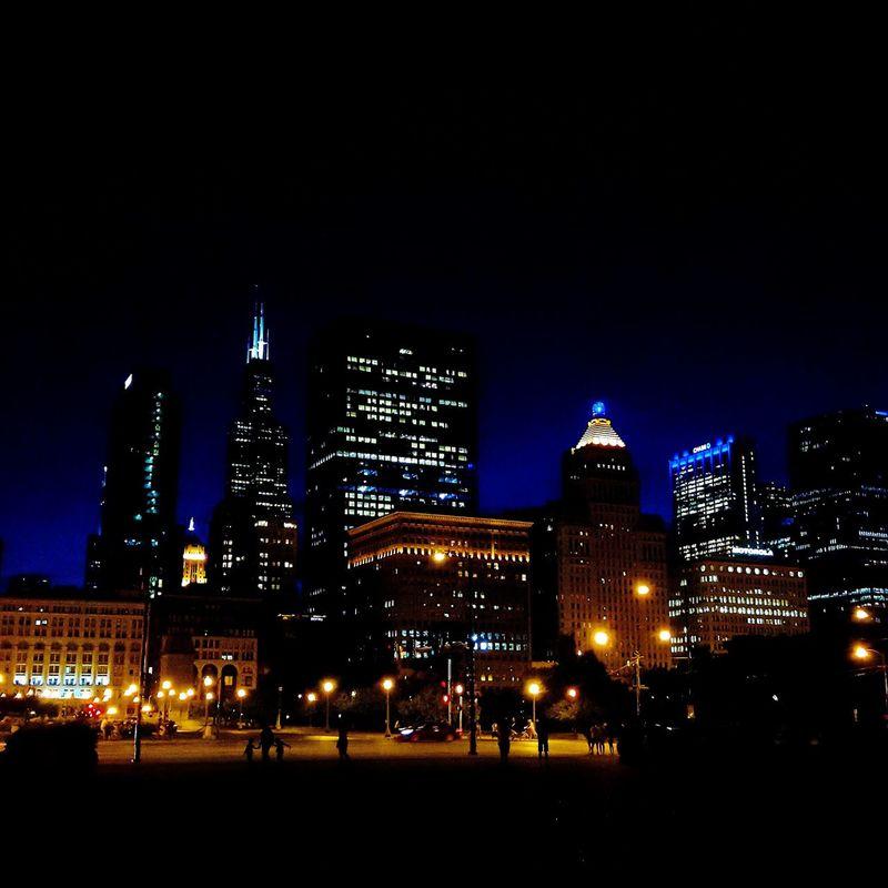 Chicago Nightlife Nighttime Walks Chitecture
