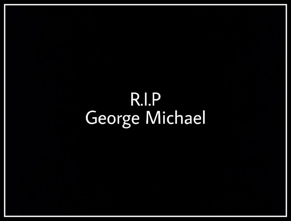 Black Background Text No People R.I.P George Michael