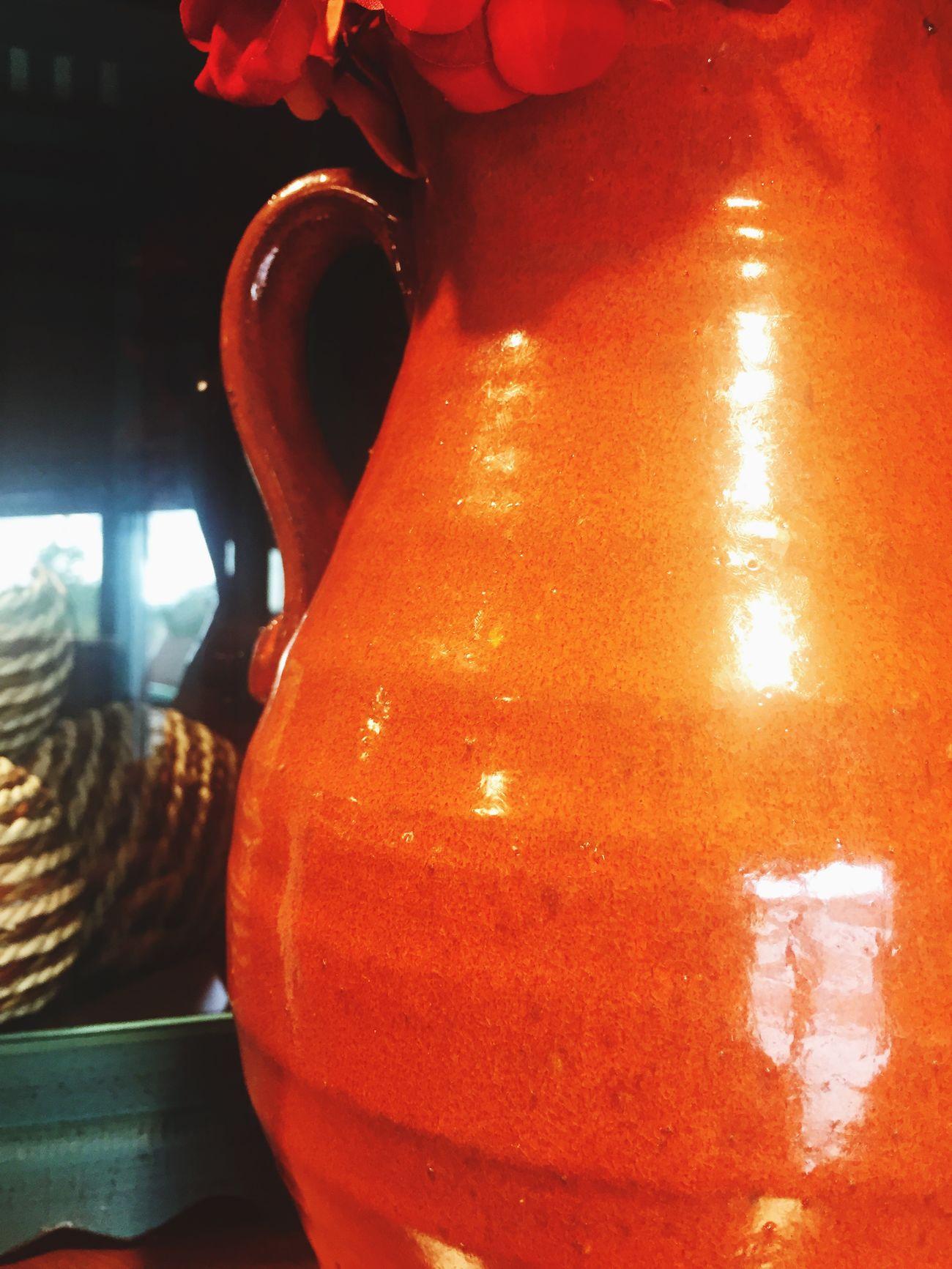 Colorful Ghg Orange Vase