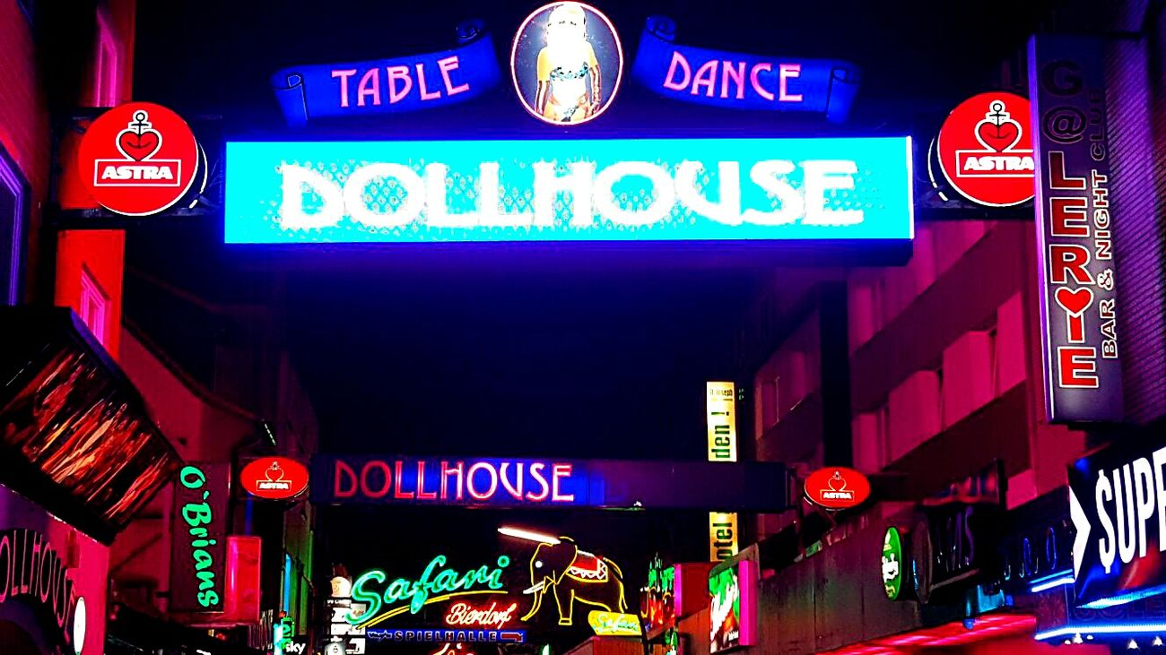 Text Night Communication Neon Nightlife Front View Travel Destinations City Outdoors Casino Reeperbahn  Kiez Stpauli Party Holiday View Love Cityscape Cultures City Life Travel Germany Hamburg CityWalk Sightseeing