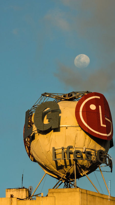LG  Lifesgood Moon Day Daymoon Clouds Luna Nubes Buenos Aires Argentina