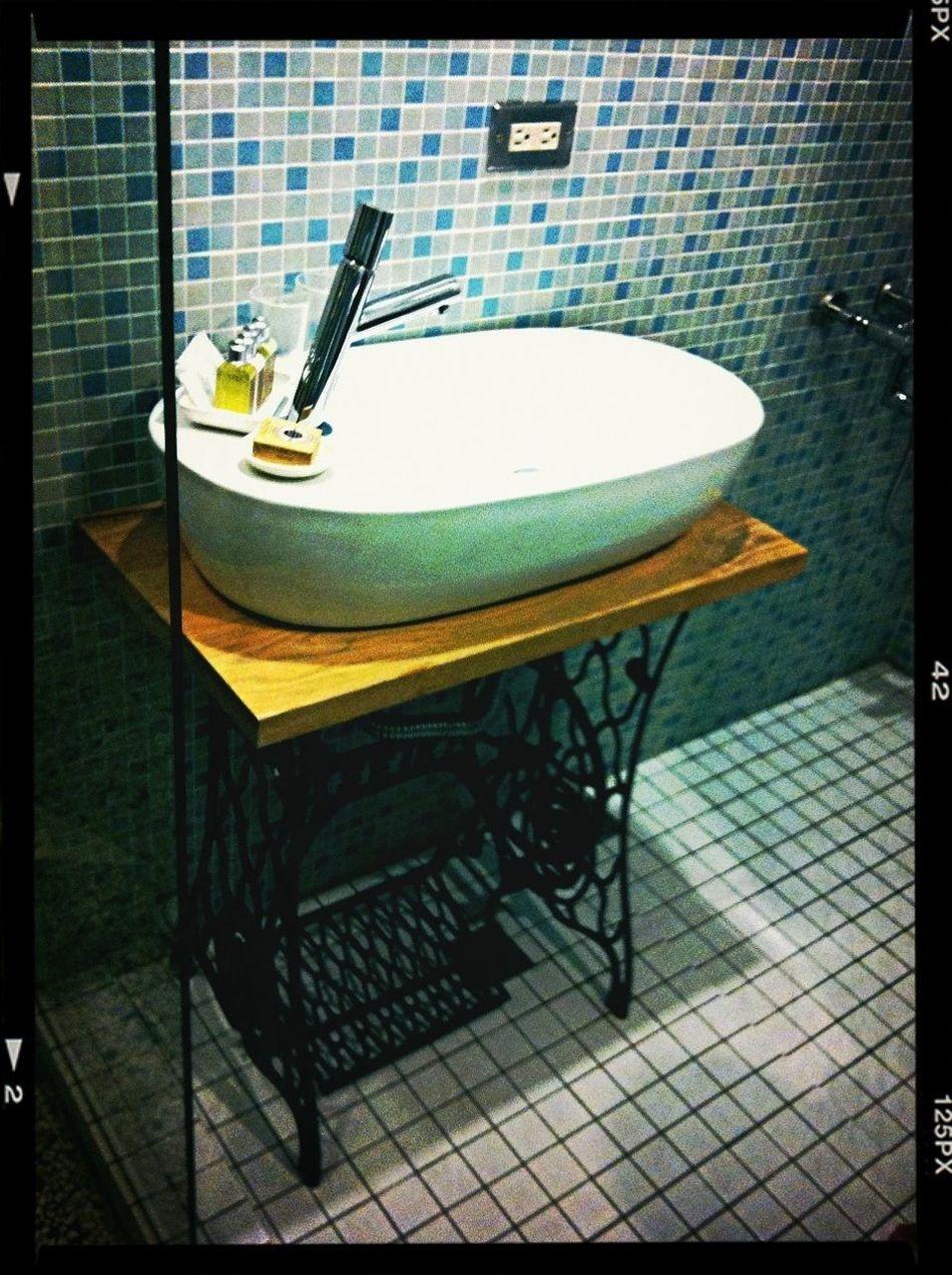 Vintage sewing machine basin