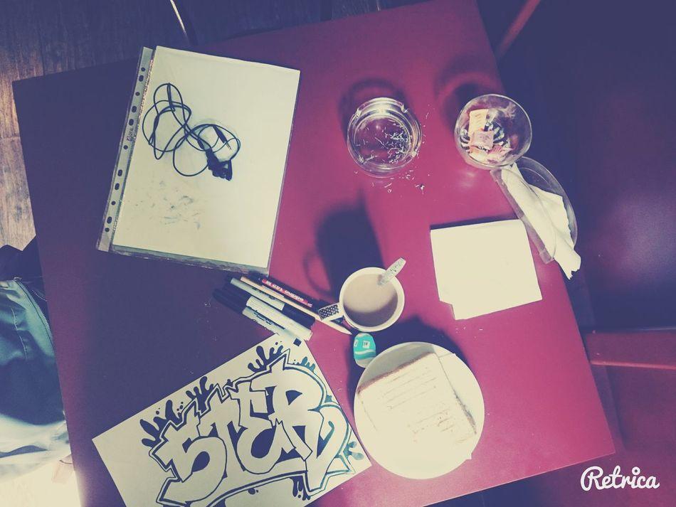 Bookcafe Graffitti Coffee Toast