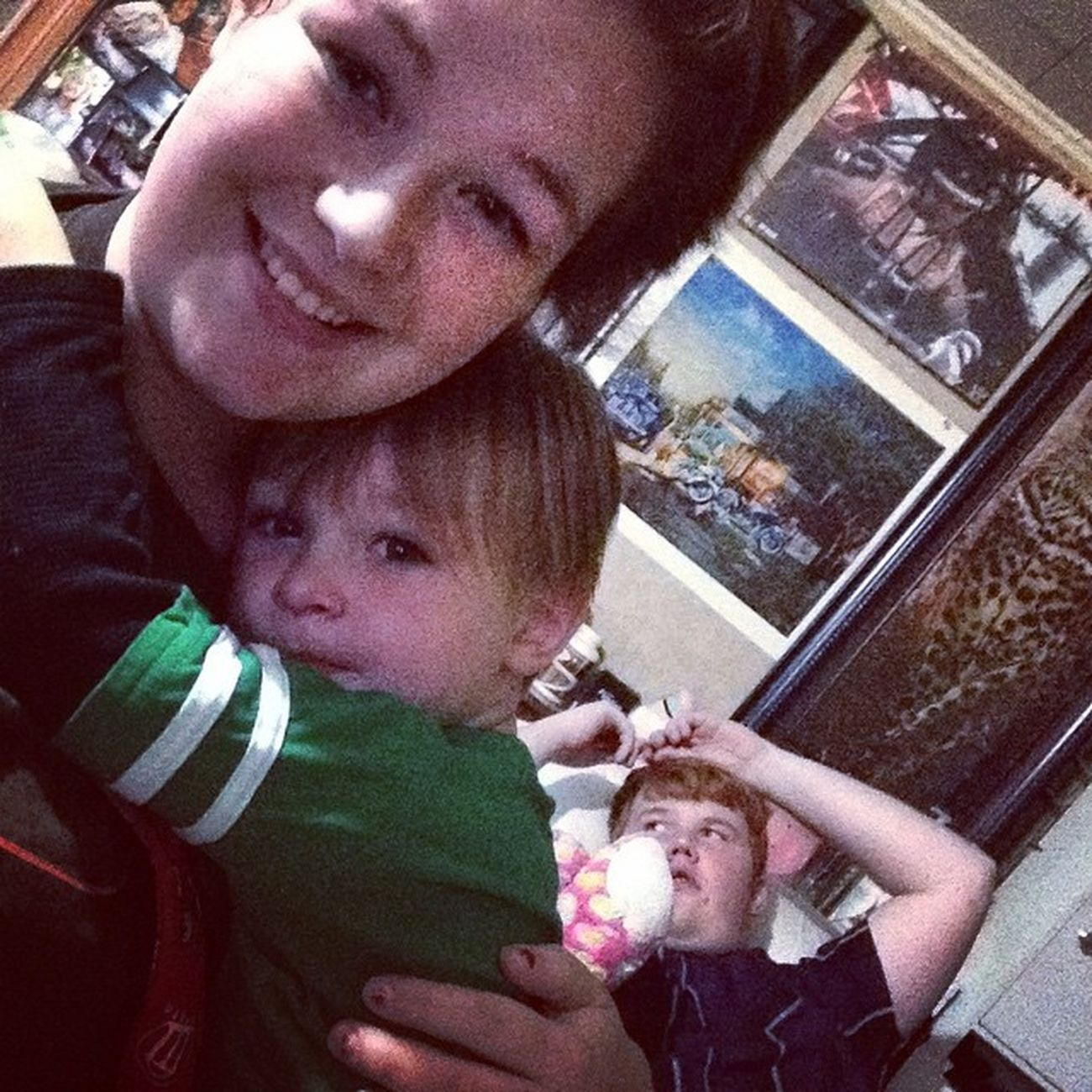 Because my brother is in the background and Aiden is living on his mommy Family Mommyandson Memories FavoritePicture GoodTimes SoSweet Freehugs Lovingbaby Babyboy