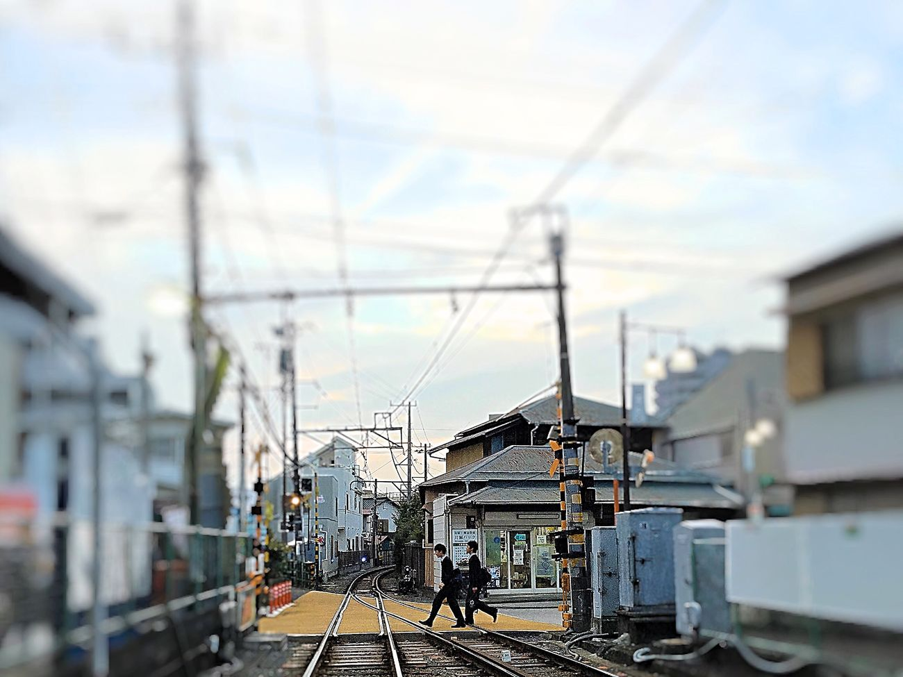 Landscape Transportation City Day Railroad Station Platform Sky People Traveling Scenics IPhoneography Walking Around Holiday Lifestyles Enjoying Life Iphoneonly Railway Japan EyeEm Gallery