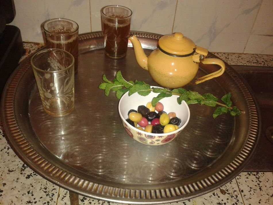 Nice moments in Morocco ; )Food Wood - Material Food And Drink Table Healthy Eating No People Plate Comfort Food Day Indoors  Ready-to-eat The Tea Olive Olive In Plat Capture The Moment Mint Tea Mint Green Morocco