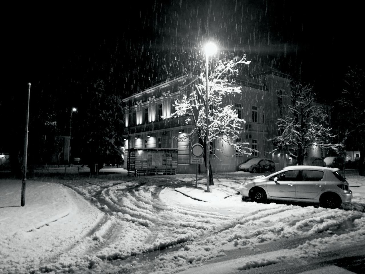 Night light / first snow this year