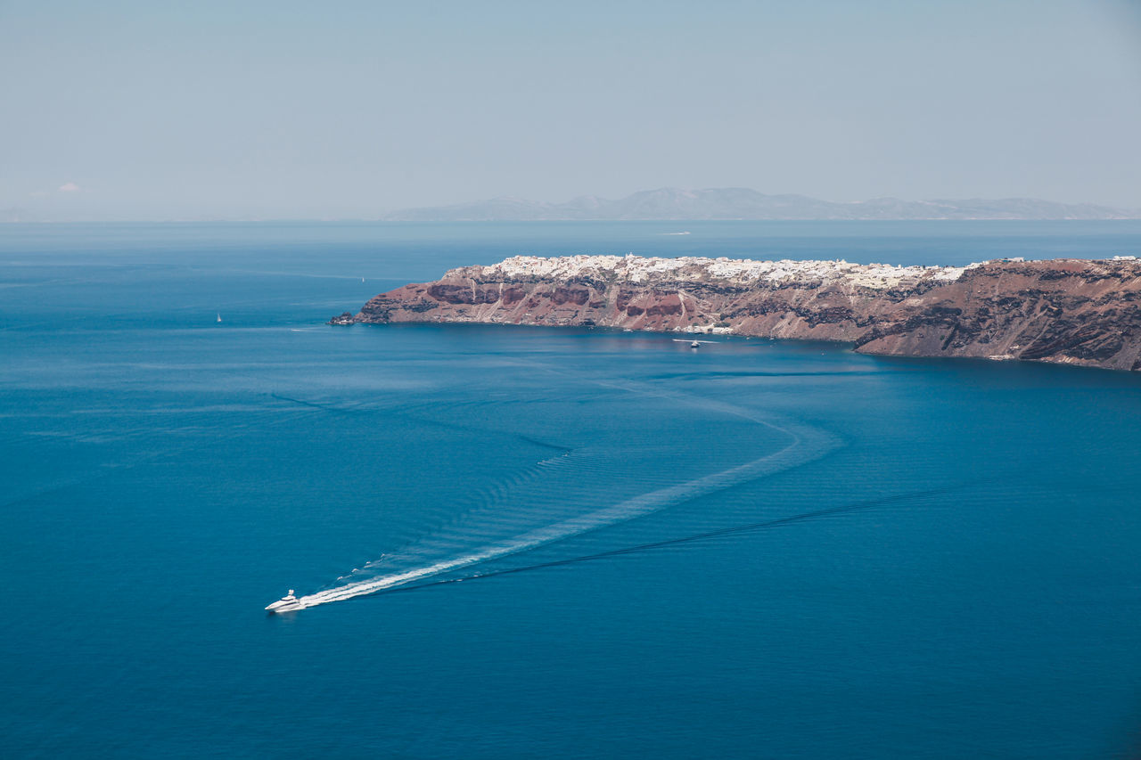 Beautiful stock photos of greece,  Blue,  Boat,  Day,  Horizontal Image