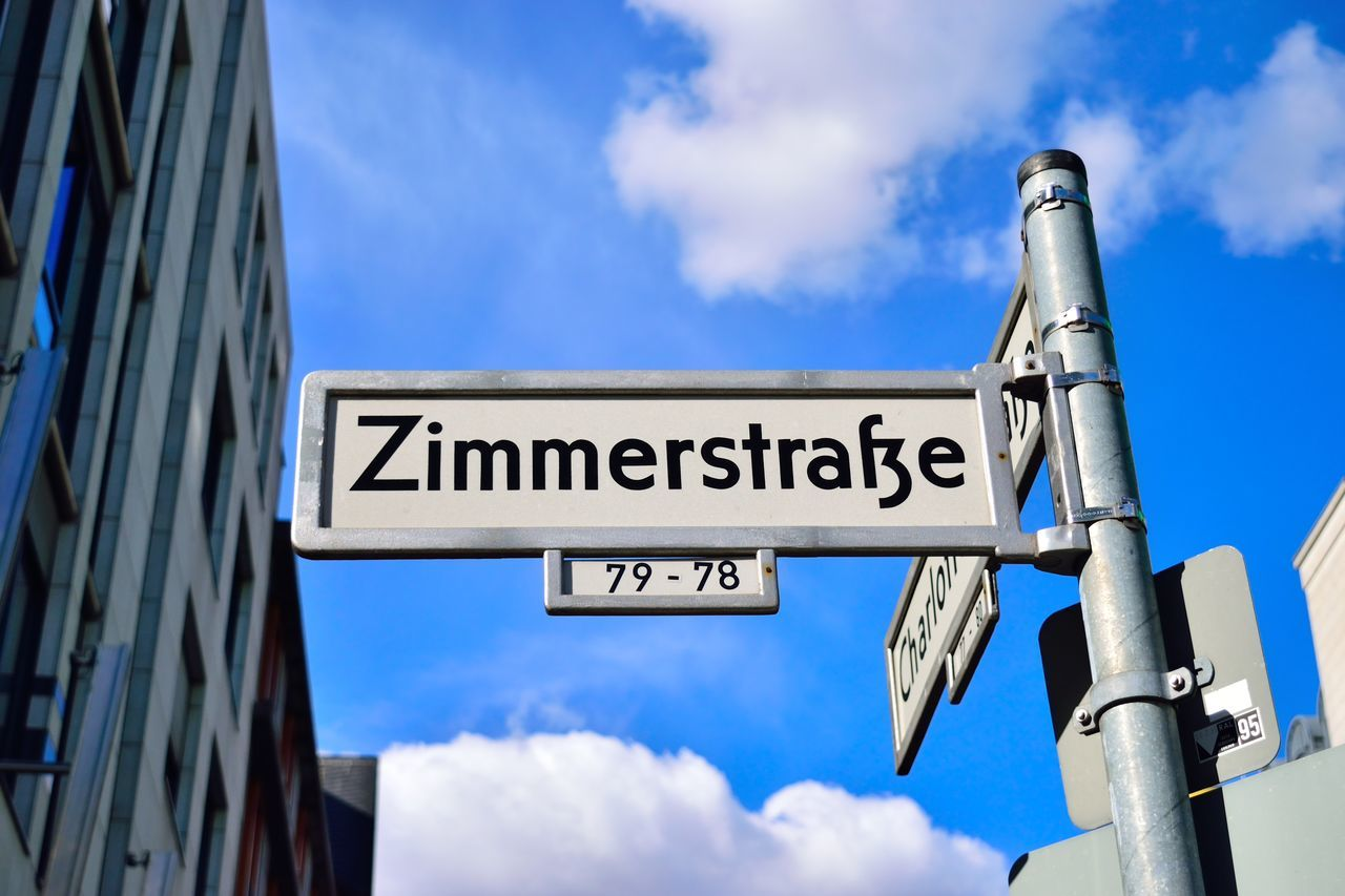 A road to find a Zimmer in Berlin ;) Architecture Berlin Blue Bluesky Building Cloud - Sky Day Flat Outdoors Road Road Sign Sky Straße Text Wg Wohnung Wohnzimmer Zimmer Zimmerdecke