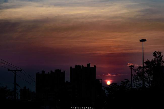 Architecture City No People Orange Color Silhouette Sky Sunset Urban