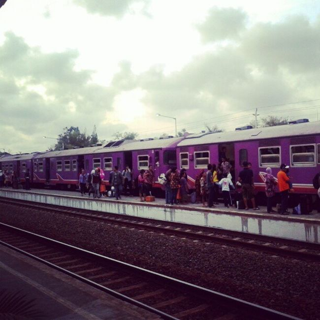 Waiting for Prameks Train, from Solo to Kutoarjo (kinda like jabodetabek train / commuter line) Train Station Wates Jogja Photowall