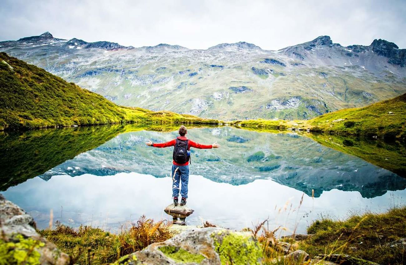Mountain Hiking One Person Nature Outdoors Mountain Peak Sky Beauty In Nature Wonderful Great Atmosphere