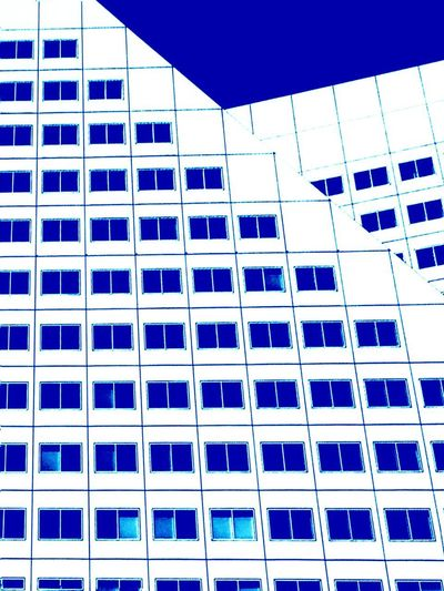 Color your Horizon Architecture Built Structure Low Angle View Building Exterior Full Frame Blue Colour Your Horizn