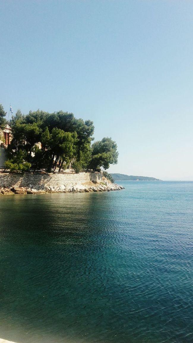 Greece Skiathosisland Skiathos Skiathos_island Relaxing Fresh AF Fresh Beautiful Greece Enjoying Life Sky Blue Likeforlike Water Sea Water Reflections Sea And Sky Aegean Sea Like4like