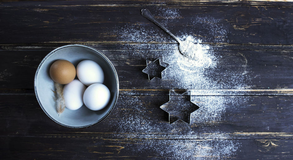 eggs lovers <3 Day Directly Above Dough Egg Flour Food Food And Drink Freshness High Angle View Indoors  No People Preparation  Raw Food Rustic Style Table First Eyeem Photo
