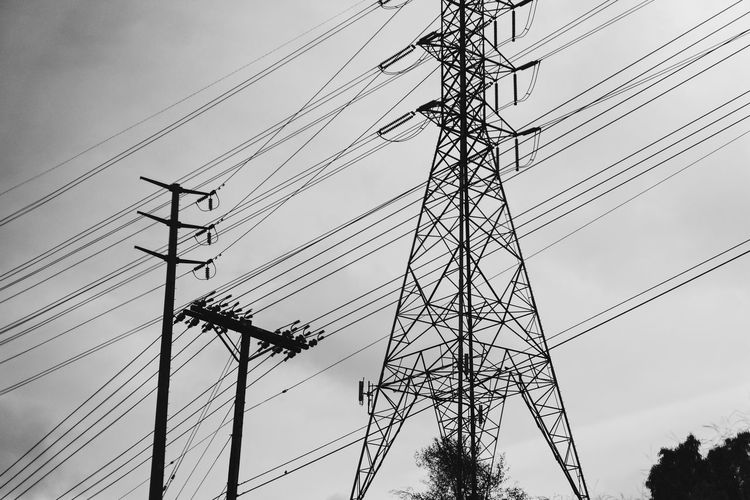 Cable Electricity  Power Supply Power Line  Connection Electricity Pylon Fuel And Power Generation
