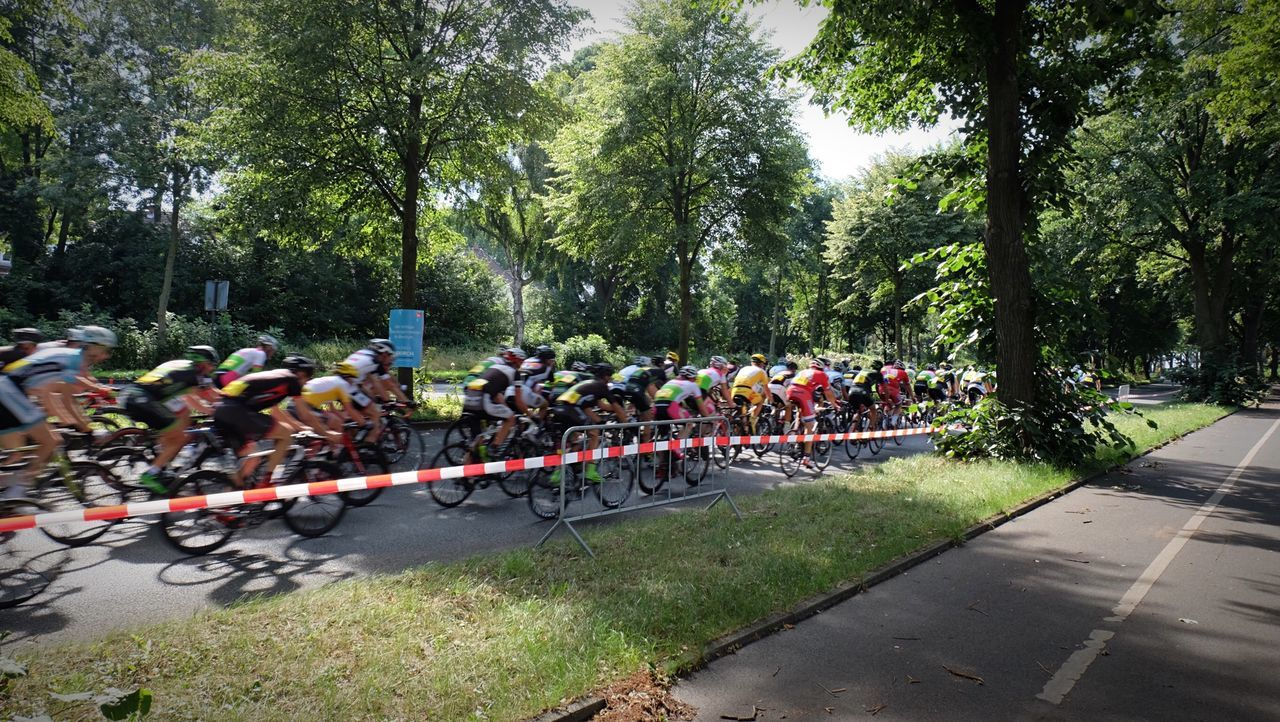 Large Group Of People Tree Day Outdoors Togetherness People Nature Adult Adults Only Road Bike Bike Cycling CyclingUnites Giro Criterium Road Biking Bike Race Bochum