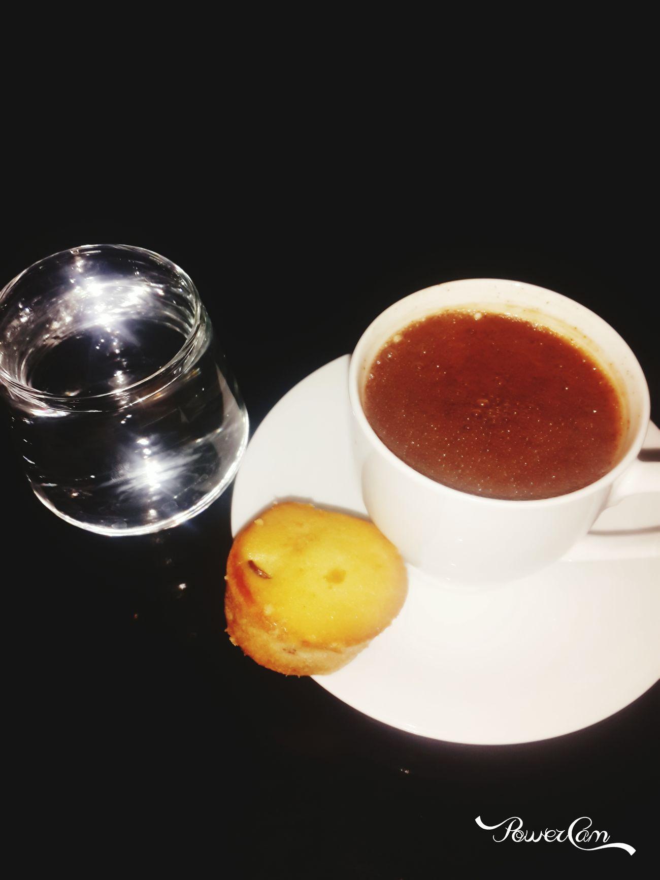 Çilekli Türk kahvesi ??? ilkler iyidir iyi ☕???