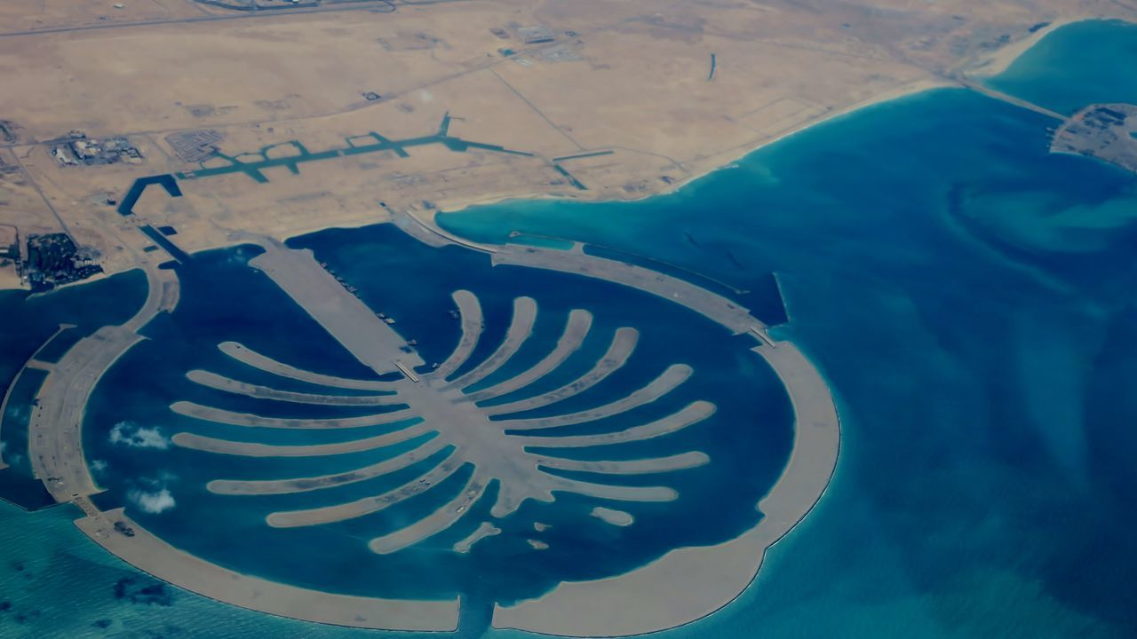 Aereal View Aerial Shot Aerial View Arhitecture Day Dubai Nature No People Outdoors Palm Jebel Ali Sea Investing In Quality Of Life Been There. Lost In The Landscape