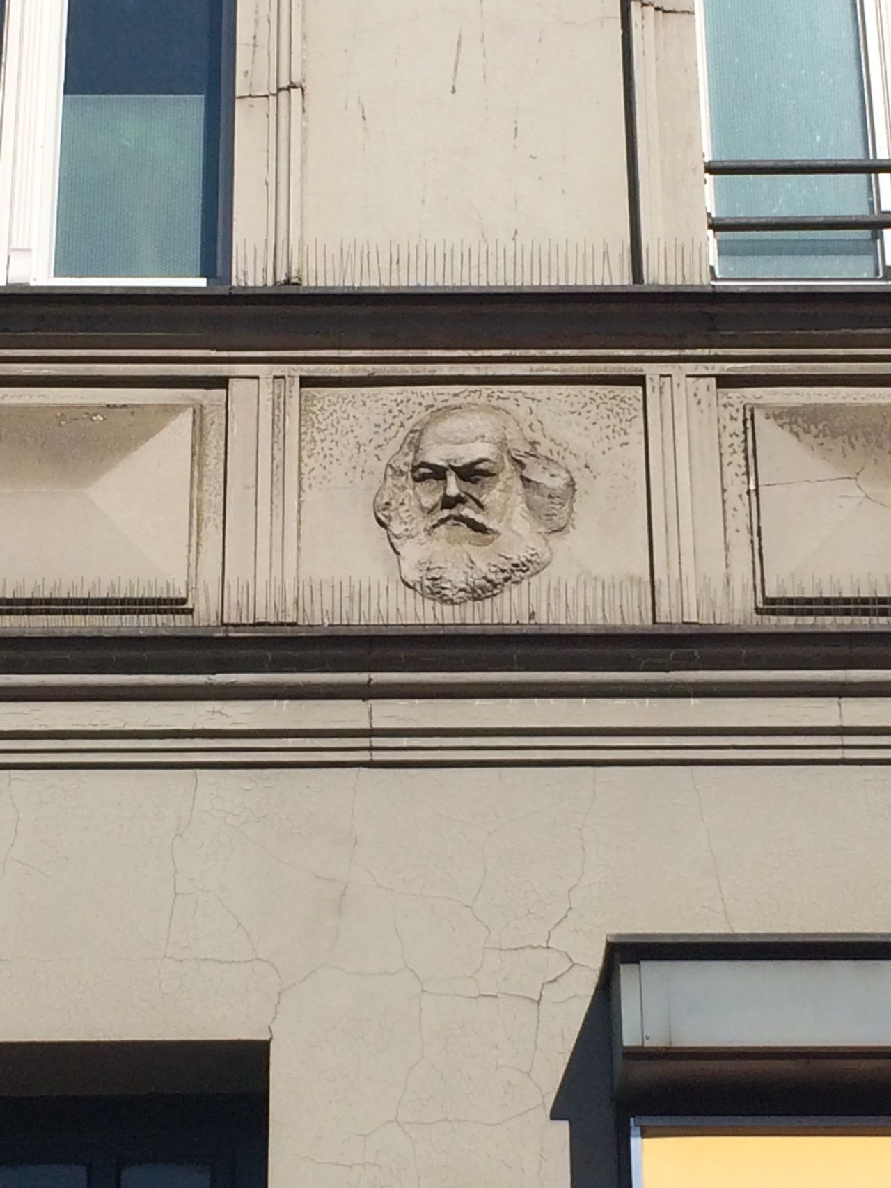 Building Exterior Built Structure Architecture Window Low Angle View No People Day Bird Outdoors Karl Marx Neukölln Hermannplatz Sculpture Animal Themes Statue