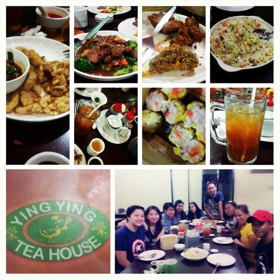 Ying.ying. Lotsa food, lotsa laughs. You couldn't ask for more. Paragonfraud Chinesecuisine Fraud Fraudpeeps siomaifave