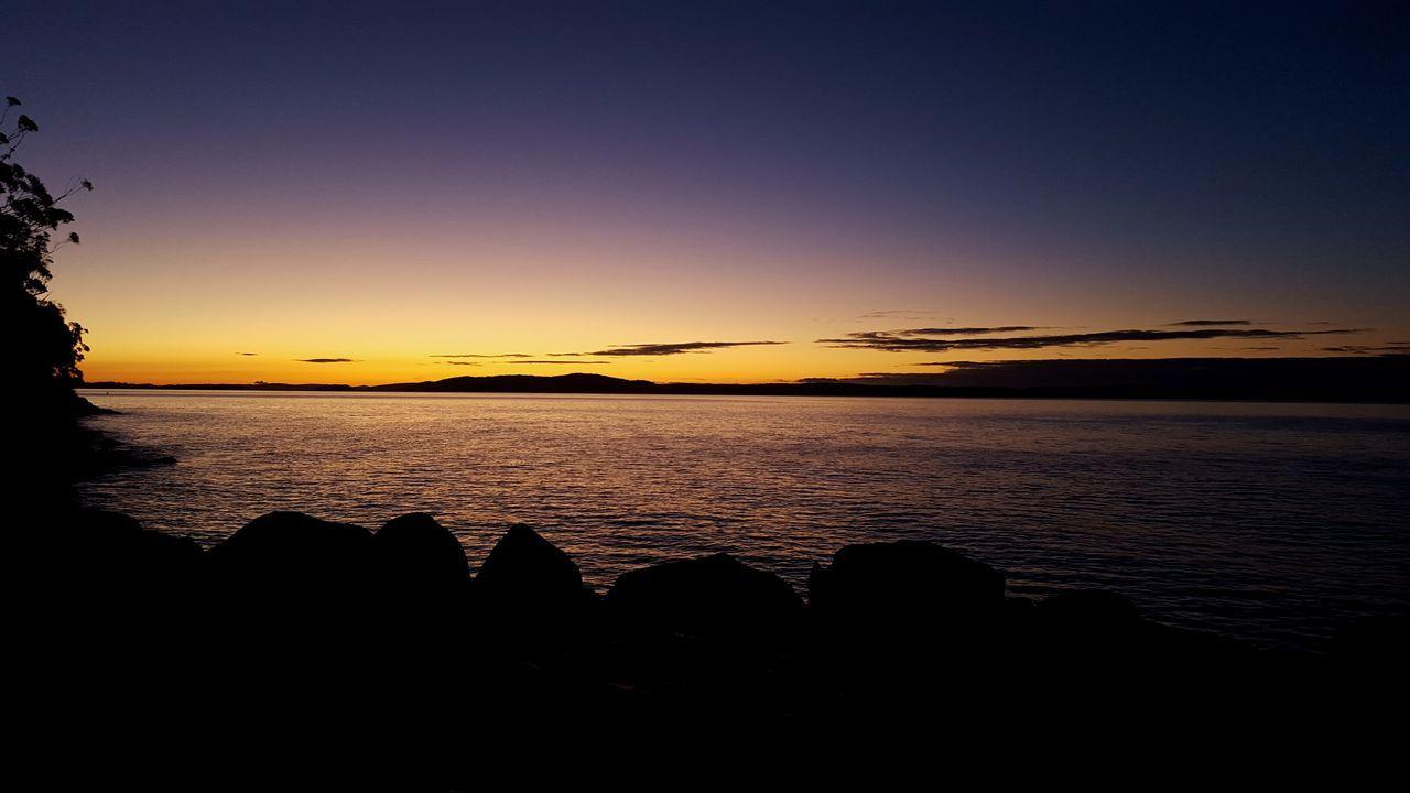 Capture of a Late Sun Setting. Nelson Bay, Australia. (Taken From IPhone 5 Smartphone) Nelson Bay Nelsons Bay Australia Sunset Nightfall Water Newtalent NEWTALENTTHEALBUM