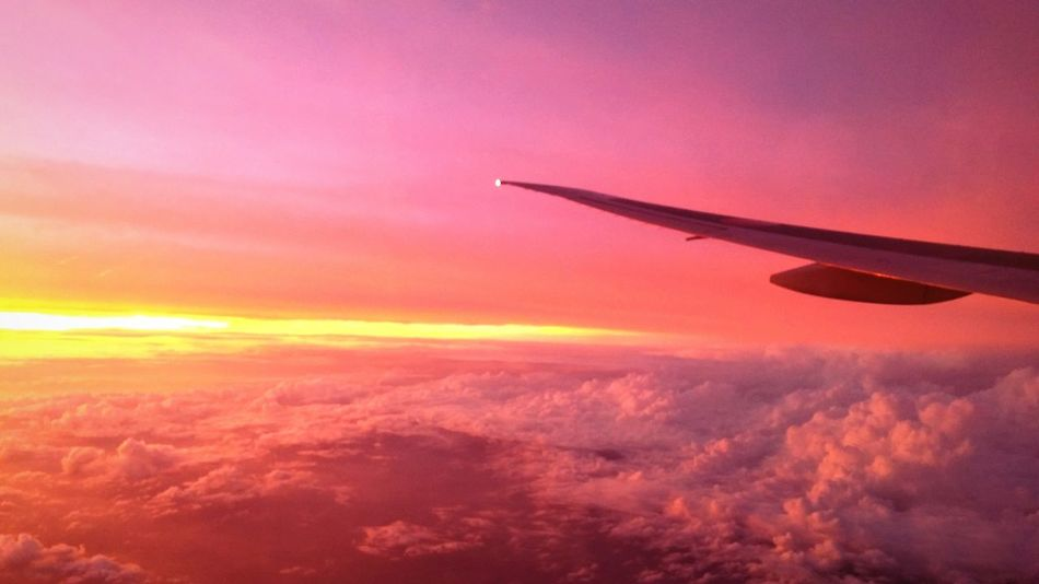 Forgot To Post On The Plane ✈ Flying Flying Across The Ocean CLOUDSEA Sunset Beautiful