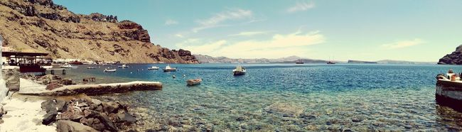 The View From Thirassia's Port Greece santorini First Eyeem Photo