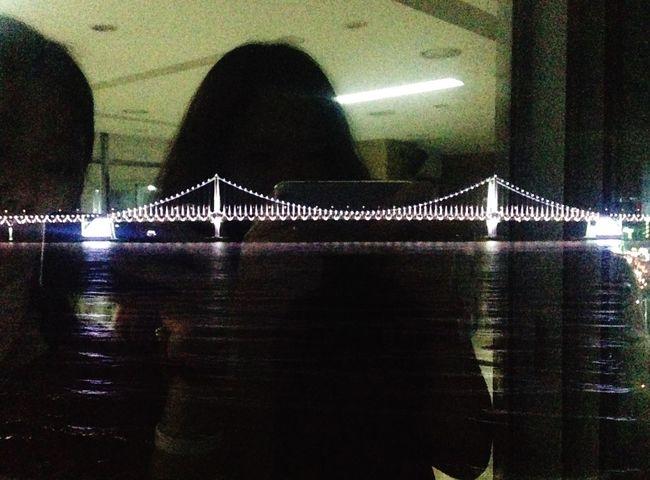 Gwanganli Spa Bridge Night Mirror