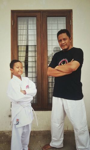 My little fighter and I. Getting In Shape Portrait Quality Time Mixed Martial Arts Pencak Silat Father & Son