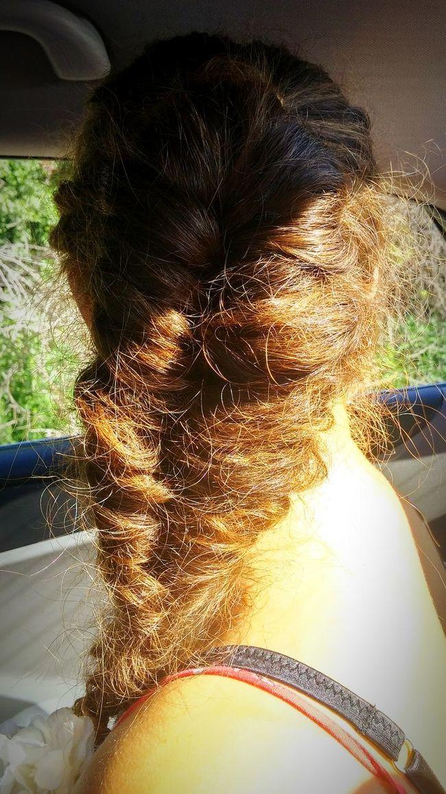 Hair Styles Fishtail Braid Curly Brownl Love ❤❤