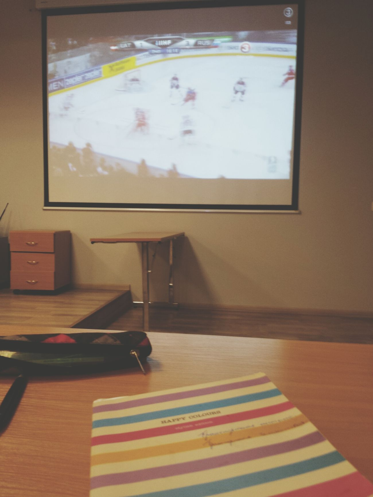 May. Hockey. Fans. The best lecture :D Institute Watching Hockey Lecture Fans