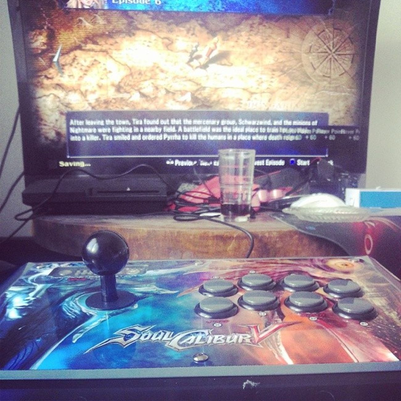 I have the most awesome boyfriend ever.. <3 got this Arcadestick for my birthday Soulcalibur Gaming Luckygirl