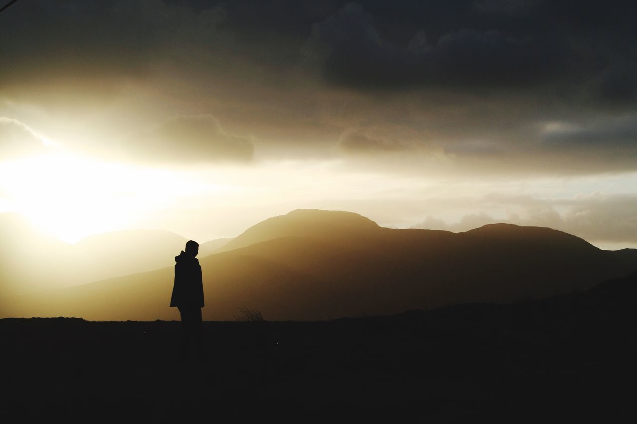 1st Jan 2006 Real People Full Length Silhouette Mountain One Person Sky Nature Rear View Standing Leisure Activity Scenics Lifestyles Beauty In Nature Tranquil Scene Tranquility Mountain Range Hiking Outdoors Men Sunset