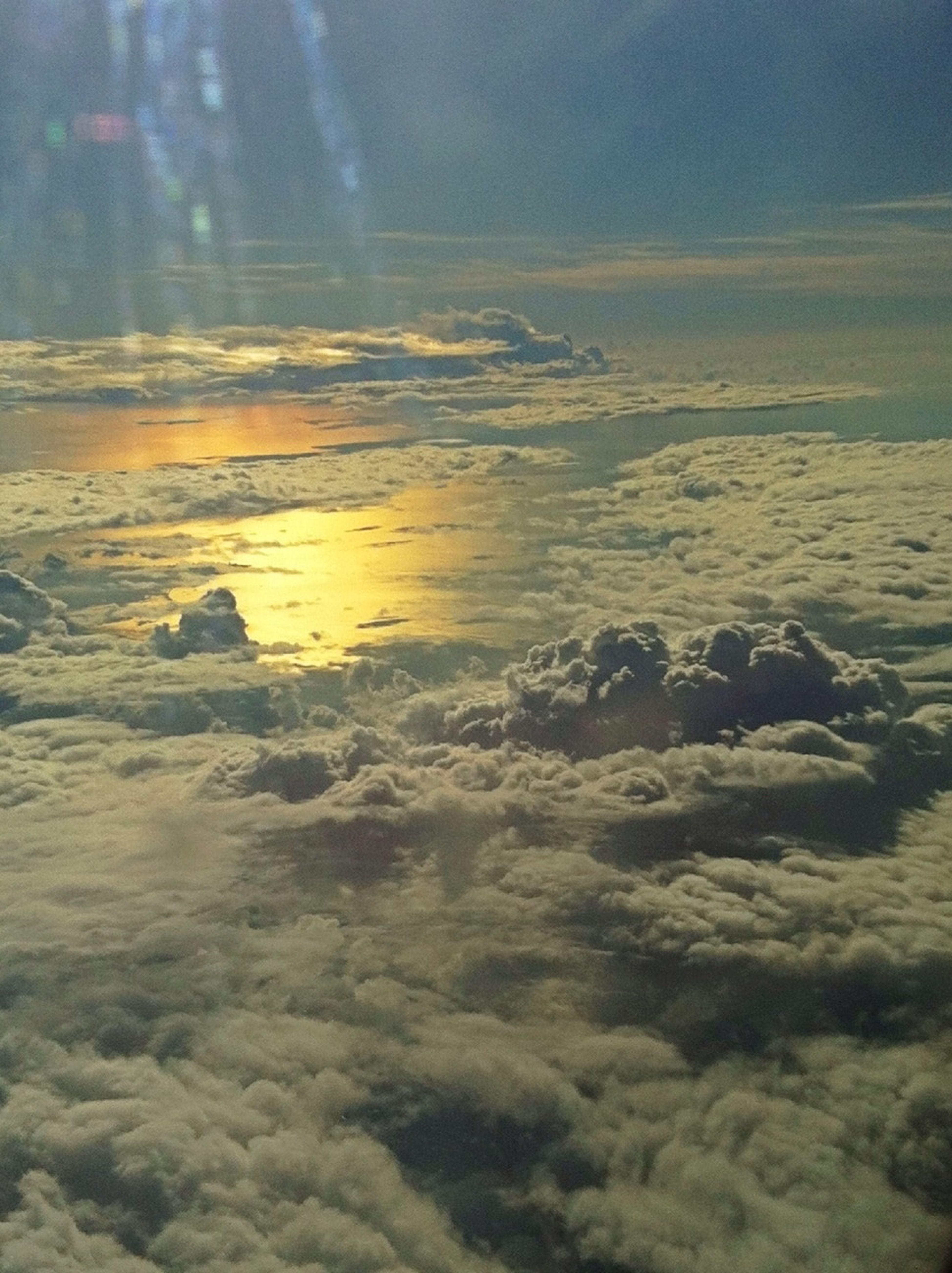 Sky, clouds, sea ad sun