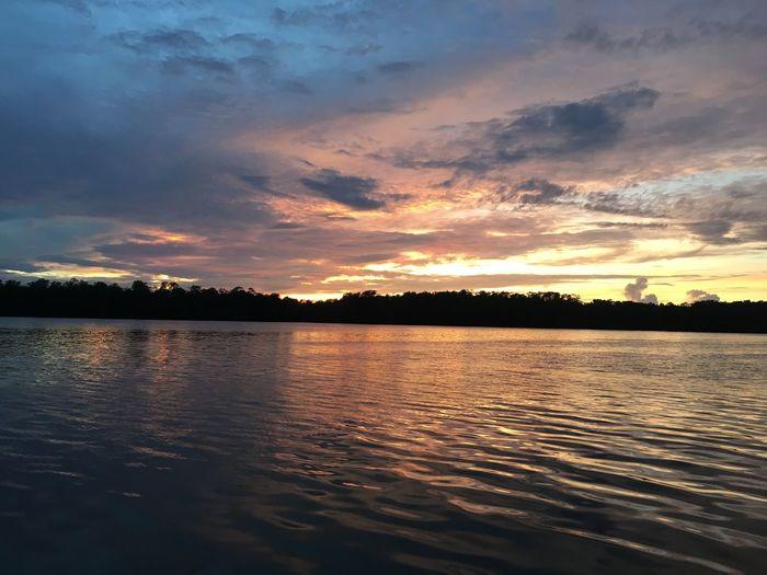 Sunrise River Sungai Pomako Timika Papua INDONESIA