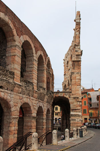 The Arena in Verona Arcade Arch Arched Architecture Arena Building Exterior Built Structure City City Coluseum Day Historic History Italy Local Landmark Monument Outdoors Romeo And Juliet Sky Tall Tall - High The Past Tower Town Verona