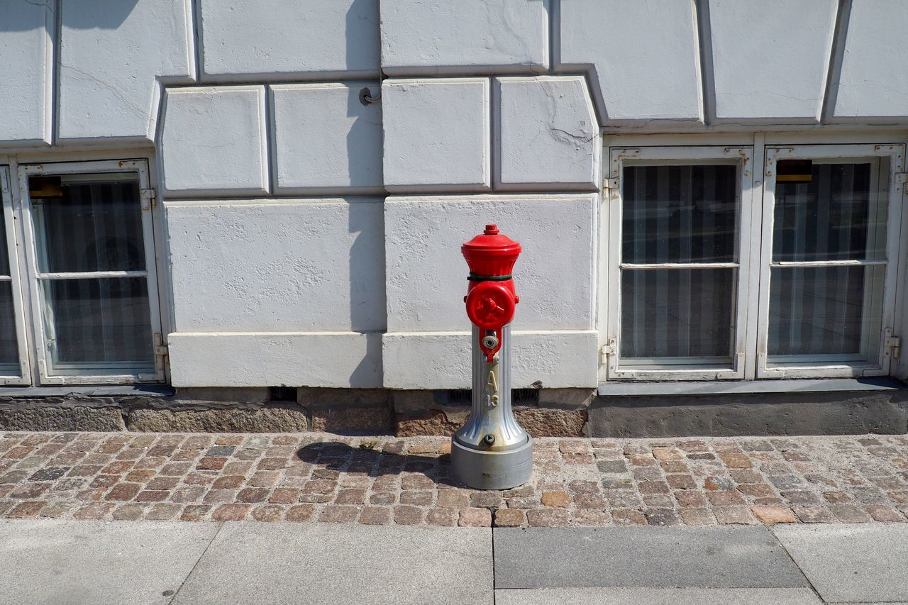 Architecture Building Exterior Built Structure Contrast Day Fire Fire Hydrant No People Outdoors Red Window