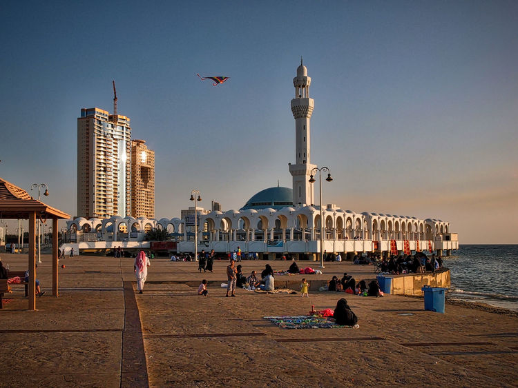 Arabic Arabic Style Architecture Architecture Building Exterior Built Structure City Cityscape Cityscapes Corniche Dusk In The City Floating Mosque Islamic Architecture Jeddah Jeddah City Mosque Place Of Worship Red Sea Saudi Arabia Street Photography Streetphotography Sunset Urban Exploration Urban Landscape