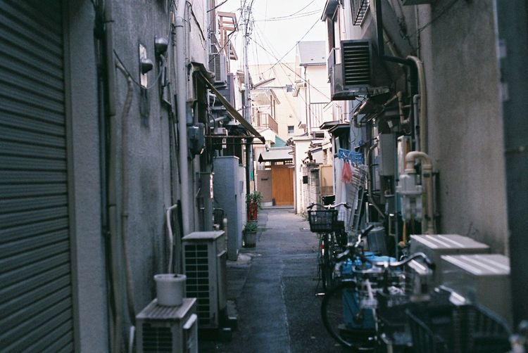 Architecture Built Structure Building Exterior Alley Day Residential Building No People Outdoors City Film Film Photography Filmisnotdead