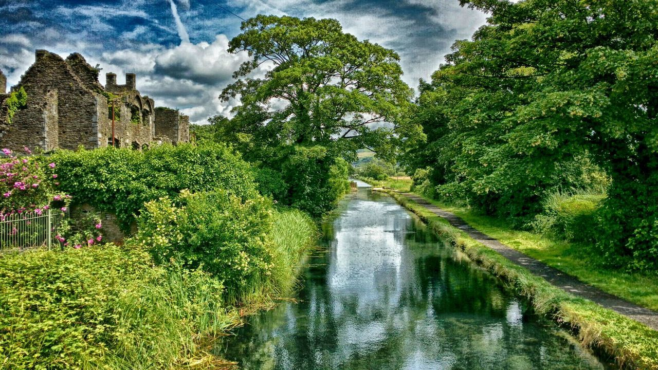 Neath Abbey Canal Canal Clouds HDR Mobilephotography Nature Nik Collection Summer Water