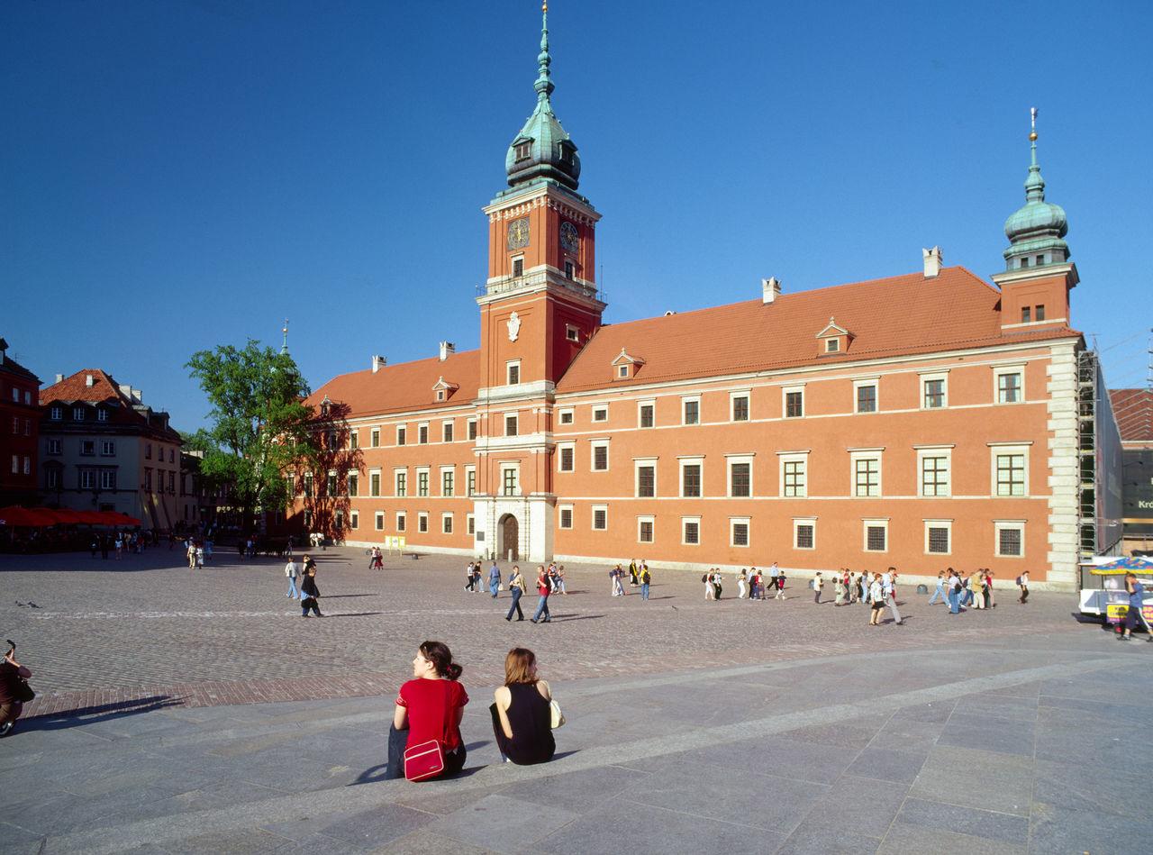 Architecture City Plac Zamkowy Polen Varsovia Warsaw Warszawa  Zamek Królewski {Poland
